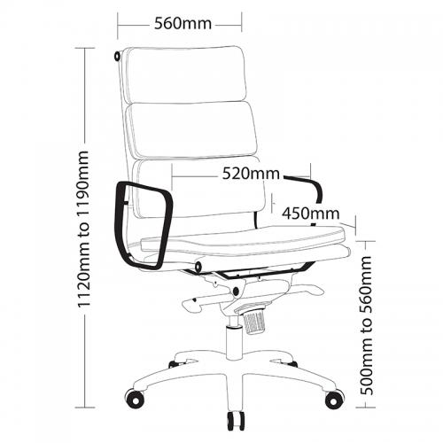 Zara High Back Chair