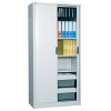 Alessi Heavy Duty Tambour Door Storage Cabinet, White