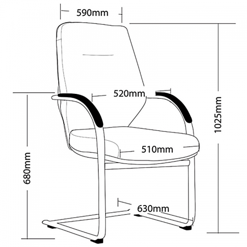 Ella Cantilever Visitor Chair