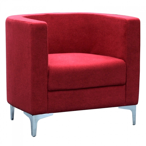 Dima Tub Chair, Red