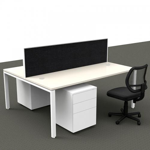 Effect Profile Leg Back to Back Desk System