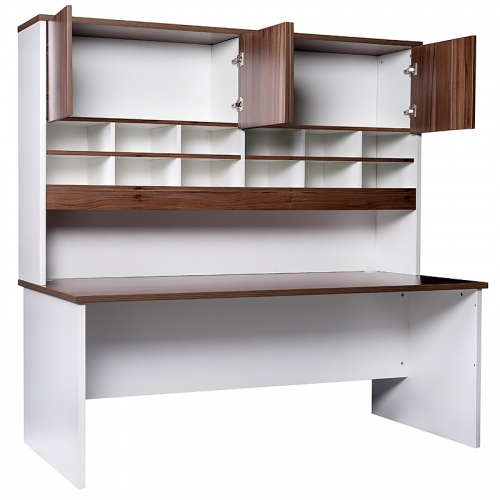 Martina Straight Desk and Pigeon Hole Hutch Unit
