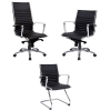 Kelsey Executive Chair, Black Leather