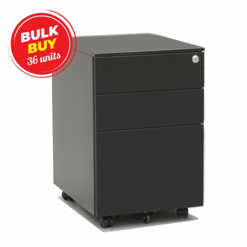 Tuff Metal Mobile Drawer Unit, Black, Bulk Purchase 36 Units