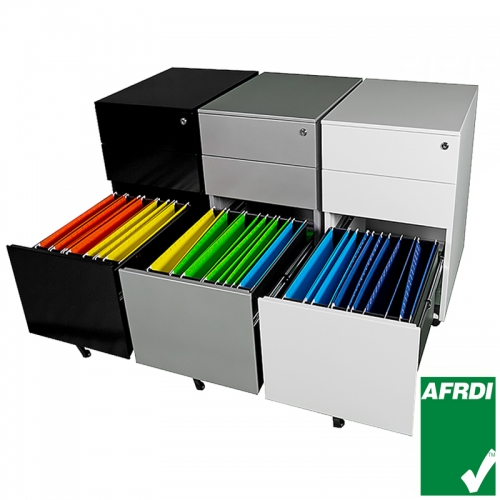 Agile Narrow Metal Mobile Drawer Unit