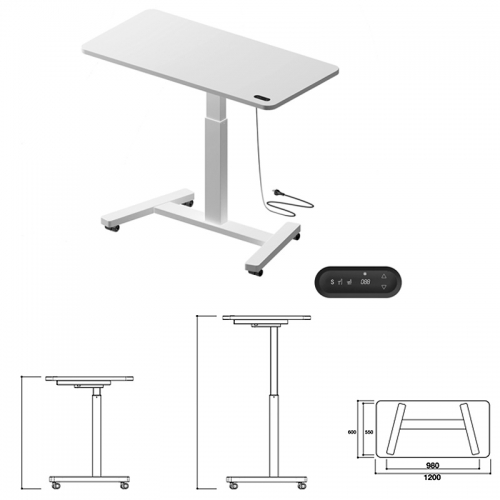 Agile Personal Portable Electric Push Button Sit Stand Height Adjustable Desk