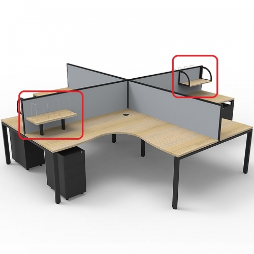 Effect Profile Leg 4 Way Corner Workstation