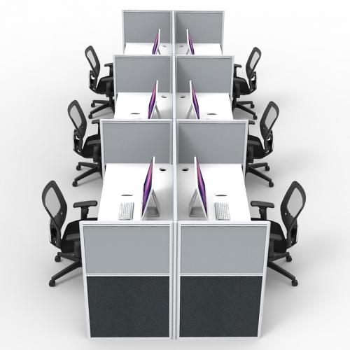 Media Back to Back Desk System