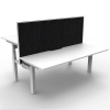 Multi Electric Push Button Sit Stand Height Adjustable Desk, Back to Back