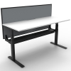 Multi Electric Push Button Sit Stand Height Adjustable Desk, Single