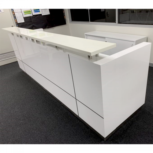 Urban Reception Counter Desk, Gloss White