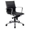 Kelsey Medium Back Chair, Black Leather