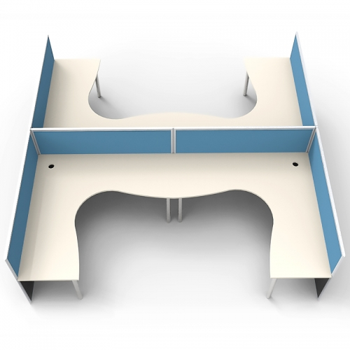Media 4 Corner Workstation Desk System