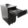 Alessi Narrow Metal Mobile Drawer Unit Range