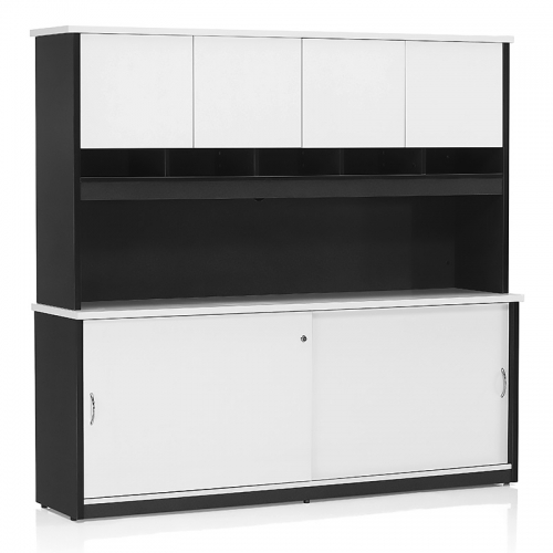 Deluxe Stationary Hutch with Doors