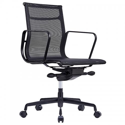 Glebe Mesh on Black Chair