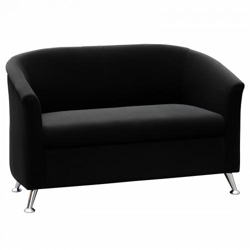Beta 2 Seater Lounge, Black Fabric