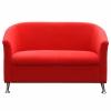 Beta 2 Seater Lounge, Red Fabric