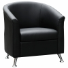Beta Tub Chair, Black Man-Made Leather