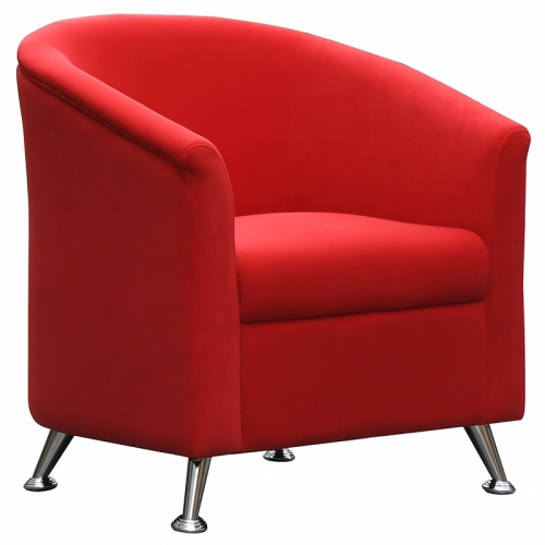 Beta Tub Chair, Red Fabric