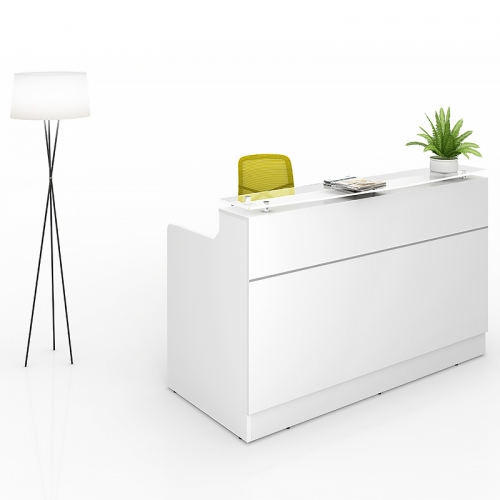 Olivia Reception Counter Desk, White