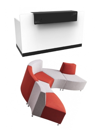 Colour Block - Reception Area - Ikcon Desks and Office Chairs