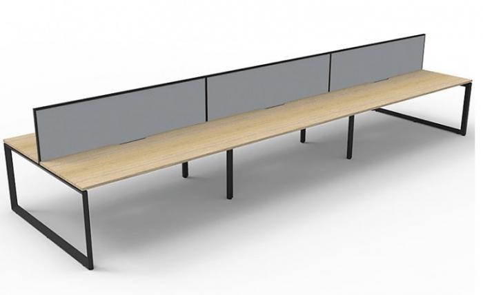 Office Desks Brisbane - Effect Loop Leg Back-to-Back Desk System