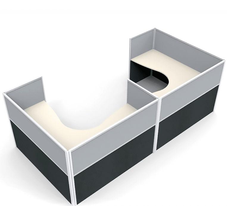 Office Desks Brisbane - Media 2 Corner Workstation Desk System